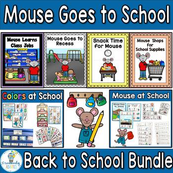 Back To School MEGA Bundle-7 Adapted Books (PreK-2/SPED/ELL)