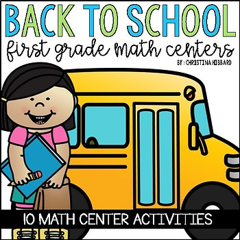 Back To School Math Centers for First Grade