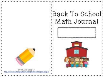 Back To School Math Journal, Grade 4