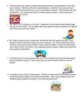 Back To School Math Problem Solving