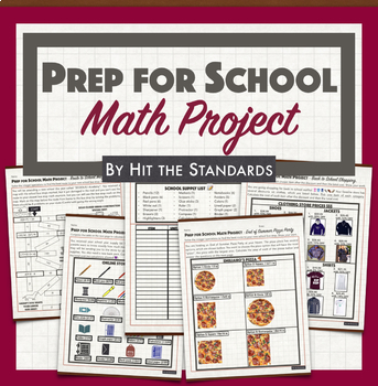 Back to School Real Life Math Project & Review - Middle School