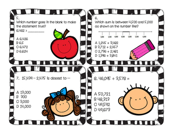 Back To School Math Task Cards