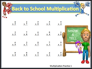 Back To School Math fact and word problem packet with Keys