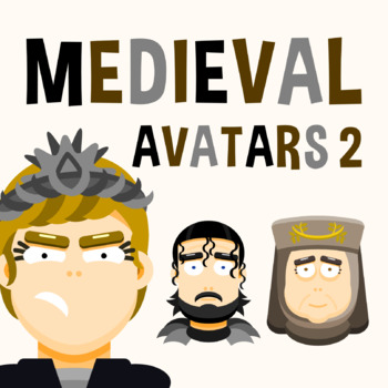 Back To School - Medieval Avatars Pack 2 Clipart