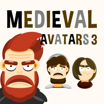 Back To School - Medieval Avatars Pack 3 Clipart