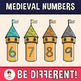 Back To School - Medieval Numbers Clipart