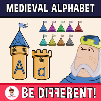 Back To School - Medieval Upper and Lower Case Letters Clipart