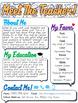Back To School Meet The Teacher Newsletter (Editable!)