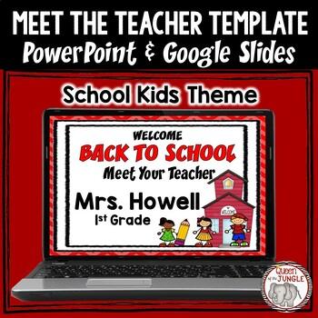back to school meet the teacher editable powerpoint template