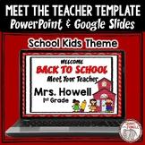 Back To School: Meet the Teacher Editable PowerPoint Template