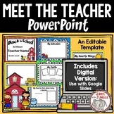 Back To School Meet the Teacher Editable PowerPoint Templa