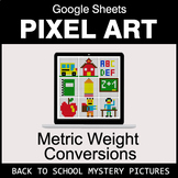 Back To School: Metric Weight Conversions - Google Sheets