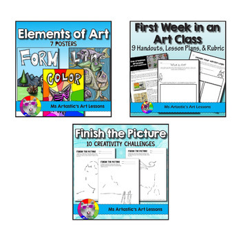 Art Lessons Bundle for an Art Classroom