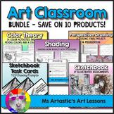 Art Lessons Bundle for an Art Classroom