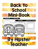 Back To School Mini-Book