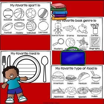 Back To School Mini Book - All About Me Mini Book