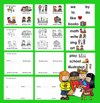Back To School Activities: Emergent Readers - 2 Levels + Word Wall w/Pics