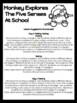 Back To School: Monkey Explores The Five Senses At School Book
