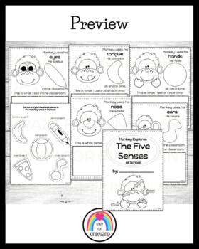 Monkey Explores The Five Senses At School Book (Back to School)