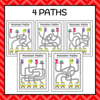 Back To School Monster Paths