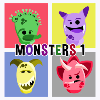 Back To School - Monsters Avatars Pack 1 Clipart