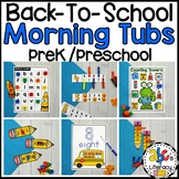Back-To-School Morning Tubs for Preschool