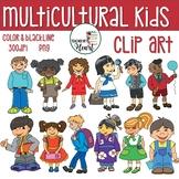 Back To School Multicultular School Kids Clip Art