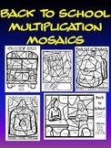 Back To School Multiplication Fun- Color By Number Pack