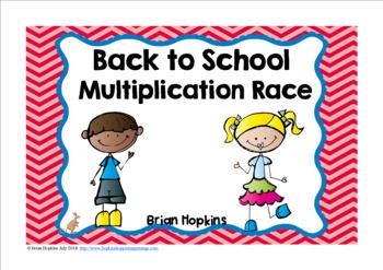 Back To School Multiplication Race