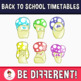 Back To School - Mushrooms Timetables Clipart