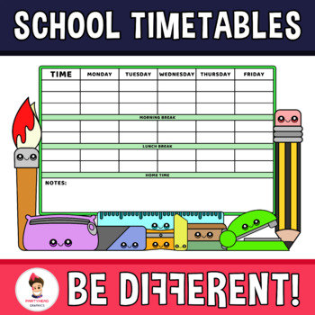 Back To School - My Favorite Timetable
