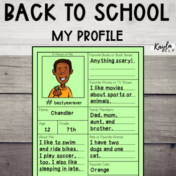 Back To School: My Profile