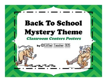 Back To School Mystery/Investigation Theme Center Posters
