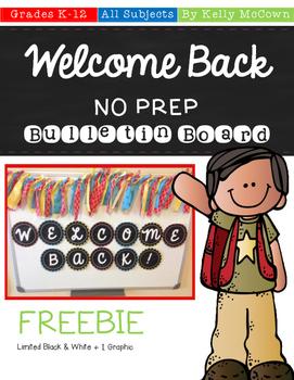 Back To School NO PREP Bulletin Board FREEBIE