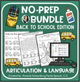 Back To School NO PREP Bundle: Artic and Language