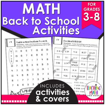 Back To School NO PREP Math Packet FREEBIE