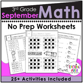 Back To School Math Activities 3rd Grade