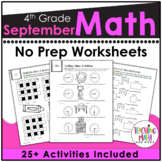 Back To School Math Activities 4th Grade
