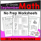 Back To School Math Activities 6th Grade