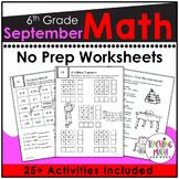 Back To School Math Activities 6th Grade