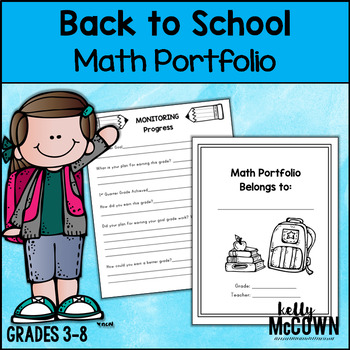 Back To School NO PREP Math Portfolio Starter Kit