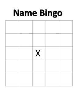 Name Bingo grades 2-5