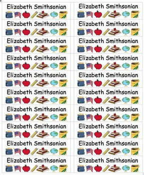 Back To School Name Labels Multi-Use-Smaller-Type Names