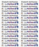 Back To School Name Labels for Mailboxes-Type Names-20 per page