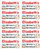 Back To School Name Labels for Writer's Notebooks-Type Names