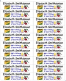 Back To School Name Labels for Writing Journals-Type Names-20 per page