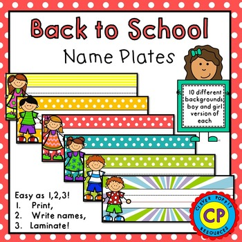 Back To School - Name Plates