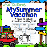 Back to School Writing Unit