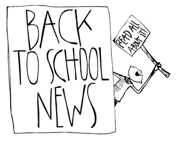 Back To School News Art