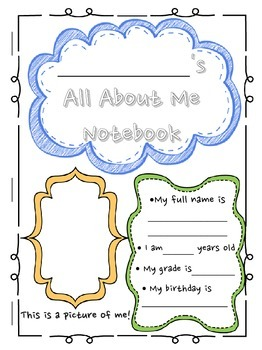 Back to School Newsletter Activity & All About Me Notebook